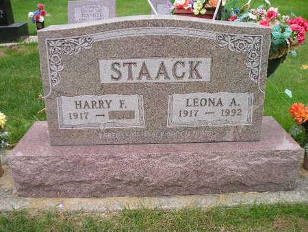 STAACK, HARRY F - Bremer County, Iowa   HARRY F STAACK