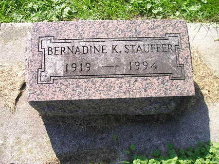 STAUFFER, BERNADINE K - Bremer County, Iowa | BERNADINE K STAUFFER