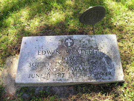 STEEGE, EDWIN W - Bremer County, Iowa   EDWIN W STEEGE