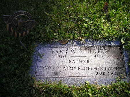 STUDIER, FRED W - Bremer County, Iowa | FRED W STUDIER