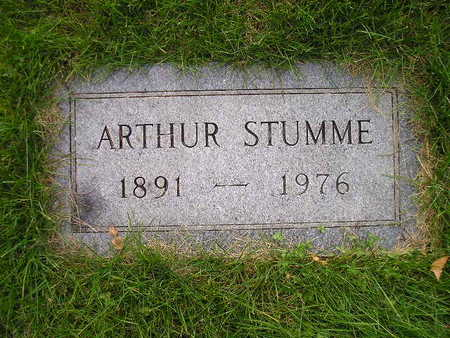 STUMME, ARTHUR - Bremer County, Iowa | ARTHUR STUMME