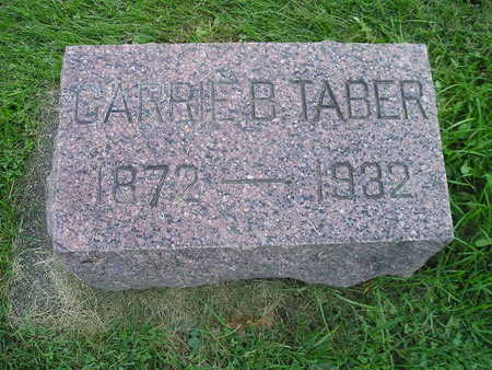 TABER, CARRIE B - Bremer County, Iowa   CARRIE B TABER