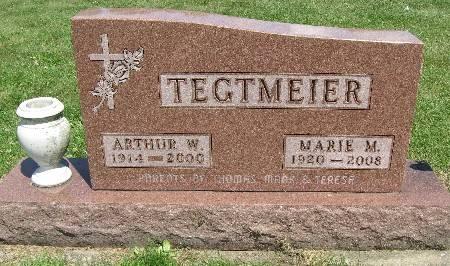 TEGTMEIER, ARTHUR W. - Bremer County, Iowa | ARTHUR W. TEGTMEIER