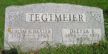 TEGTMEIER, MIRIAM E - Bremer County, Iowa | MIRIAM E TEGTMEIER