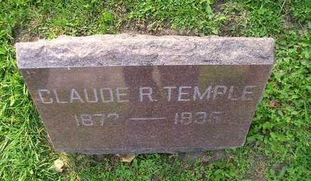 TEMPLE, CLAUDE R - Bremer County, Iowa   CLAUDE R TEMPLE