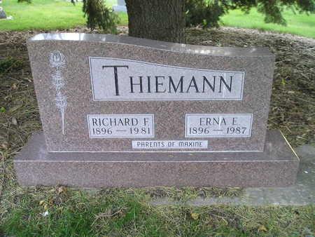 THIEMANN, ERNA E - Bremer County, Iowa | ERNA E THIEMANN