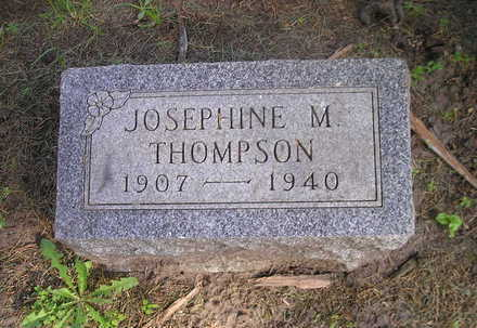 THOMPSON, JOSEPHINE M. - Bremer County, Iowa | JOSEPHINE M. THOMPSON