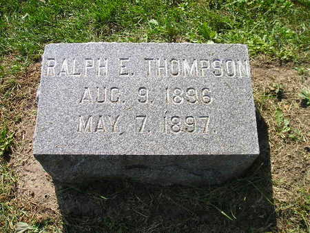 THOMPSON, RALPH E - Bremer County, Iowa | RALPH E THOMPSON
