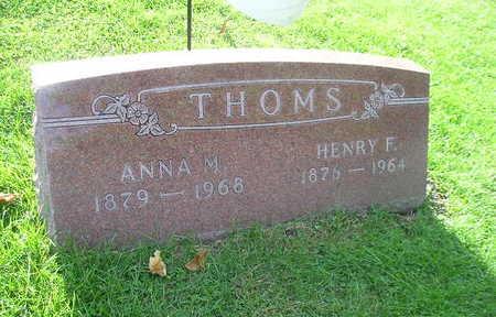 THOMS, ANNA M - Bremer County, Iowa | ANNA M THOMS