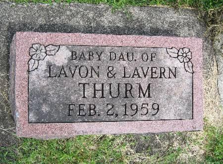 THURM, BABY DAU. - Bremer County, Iowa | BABY DAU. THURM