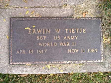 TIETJE, ERWIN W - Bremer County, Iowa | ERWIN W TIETJE