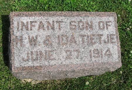 TIETJE, INFANT SON - Bremer County, Iowa   INFANT SON TIETJE