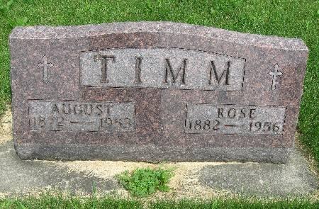 TIMM, AUGUST - Bremer County, Iowa   AUGUST TIMM