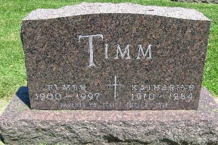 TIMM, KATHERINE - Bremer County, Iowa | KATHERINE TIMM