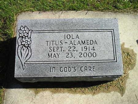 TITUS-ALAMEDA, IOLA - Bremer County, Iowa   IOLA TITUS-ALAMEDA