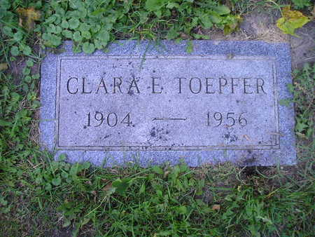 TOEPFER, CLARA E - Bremer County, Iowa   CLARA E TOEPFER