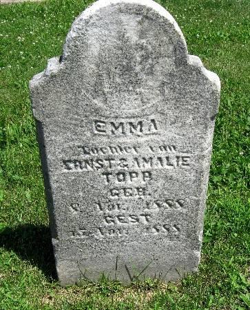 TOPP, EMMA - Bremer County, Iowa   EMMA TOPP