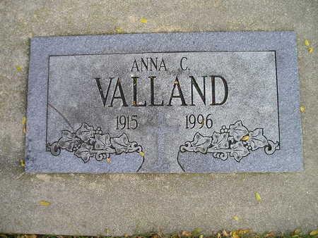 VALLAND, ANNA C - Bremer County, Iowa   ANNA C VALLAND