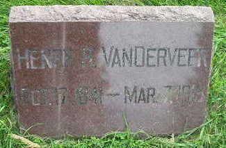VANDERVEER, HENRY R - Bremer County, Iowa   HENRY R VANDERVEER