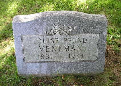 PFUND VENEMAN, LOUISE - Bremer County, Iowa | LOUISE PFUND VENEMAN