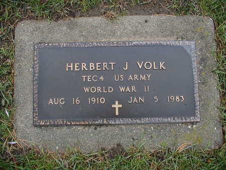 VOLK, HERBERT J - Bremer County, Iowa   HERBERT J VOLK