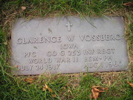 VOSSBERG, CLARENCE W - Bremer County, Iowa   CLARENCE W VOSSBERG