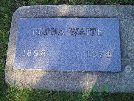 WAITE, ELPHA - Bremer County, Iowa   ELPHA WAITE