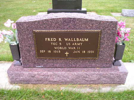 WALLBAUM, FRED R - Bremer County, Iowa   FRED R WALLBAUM