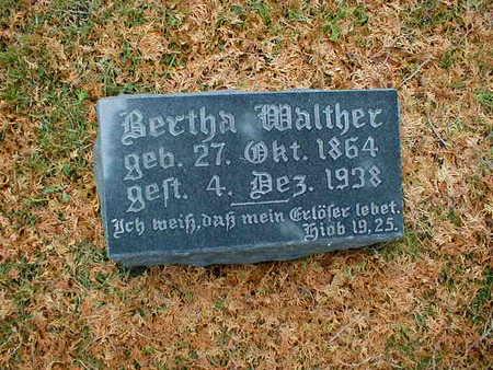 WALTHER, BERTHA - Bremer County, Iowa | BERTHA WALTHER