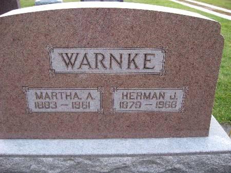 WARNKE, HERMAN J - Bremer County, Iowa   HERMAN J WARNKE