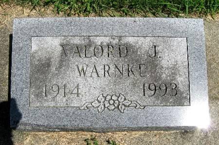 WARNKE, VALORD J - Bremer County, Iowa   VALORD J WARNKE