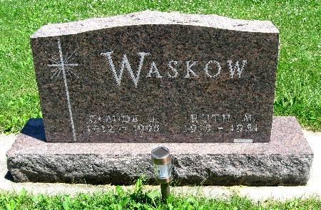 WASKOW, CLAUDE J - Bremer County, Iowa   CLAUDE J WASKOW