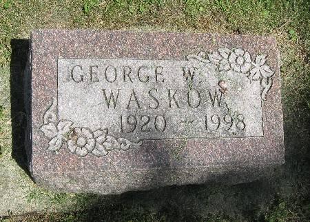 WASKOW, GEORGE W. - Bremer County, Iowa   GEORGE W. WASKOW