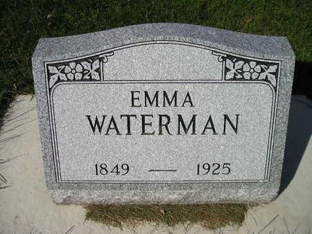 WATERMAN, EMMA - Bremer County, Iowa   EMMA WATERMAN
