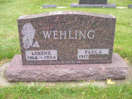 WEHLING, PAULA - Bremer County, Iowa   PAULA WEHLING