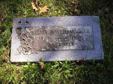 WEHRMACHER, SELMA B - Bremer County, Iowa   SELMA B WEHRMACHER