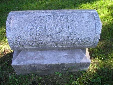 WEIDEMANN, FRED W - Bremer County, Iowa   FRED W WEIDEMANN
