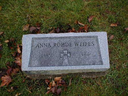 ROHDE WEIRES, ANNA - Bremer County, Iowa   ANNA ROHDE WEIRES