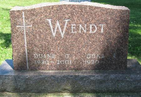 WENDT, DUANE O. - Bremer County, Iowa | DUANE O. WENDT