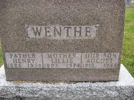 WENTHE, AUGUST - Bremer County, Iowa | AUGUST WENTHE