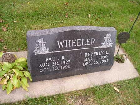 WHEELER, PAUL B - Bremer County, Iowa | PAUL B WHEELER