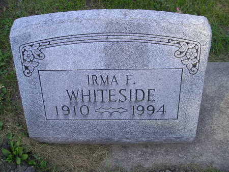 WHITESIDE, IRMA F - Bremer County, Iowa | IRMA F WHITESIDE