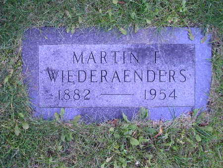 WIEDERAENDERS, MARTIN F - Bremer County, Iowa | MARTIN F WIEDERAENDERS