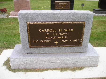 WILD, CARROLL H - Bremer County, Iowa   CARROLL H WILD
