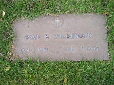 WILDEBOER, DAVE B - Bremer County, Iowa   DAVE B WILDEBOER
