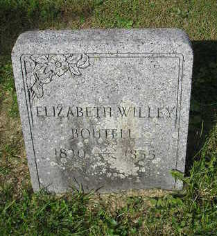 BOUTELL WILLEY, ELIZABETH - Bremer County, Iowa | ELIZABETH BOUTELL WILLEY
