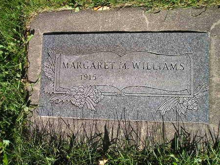 WILLIAMS, MARGARET M - Bremer County, Iowa   MARGARET M WILLIAMS