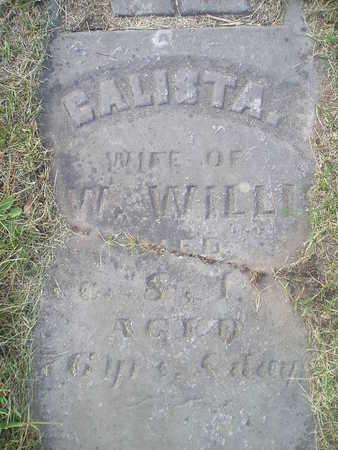 WILLIS, GALISTA - Bremer County, Iowa | GALISTA WILLIS