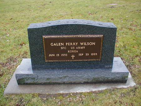 WILSON, GALEN PERRY - Bremer County, Iowa   GALEN PERRY WILSON