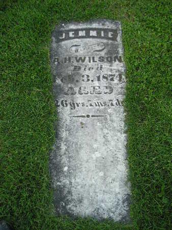 WILSON, JENNIE - Bremer County, Iowa   JENNIE WILSON